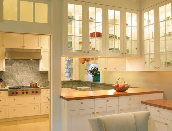 kitchen glass cabinets island light simple ideas to change your with