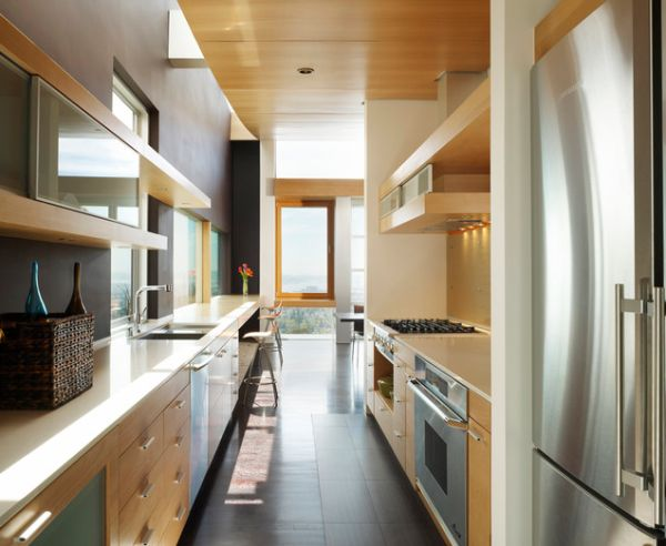 small narrow kitchen design ideas Form AND Function in a Galley Kitchen