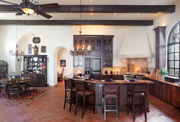 brick floor kitchen cabinet software 10 design ideas we love view in gallery another beautiful example of flooring