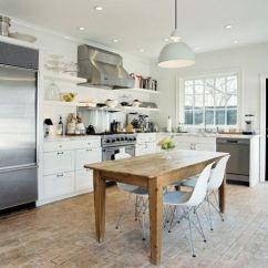 Brick Floor Kitchen Curtains Country 10 Design Ideas We Love