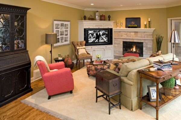 how to arrange living room with tv above fireplace photos of rooms fireplaces modern designs that use corner units