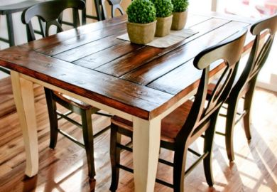 Diy Distressed Dining Room Table