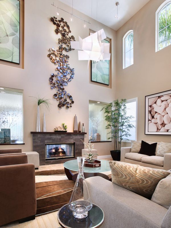 decor for large living room walls wall cabinets how to decorate a make it feel cosy double height rooms