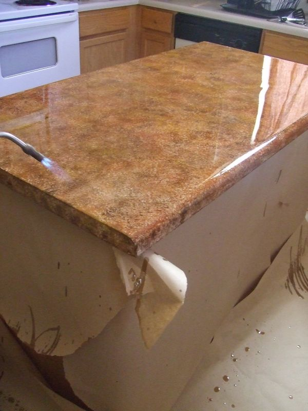 kitchen countertop cover wood table diy updates for your laminate countertops without replacing them view in gallery