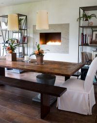 Stylish Farmhouse Dining TablesAirily romantic or casual ...