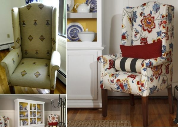 wingback chair upholstery ideas wedding cover hire barnsley how to reupholster a 10 chic