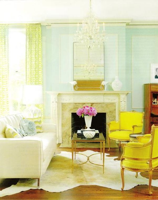 yellow chairs for living room rooms with dark brown couches aqua cheery fresh