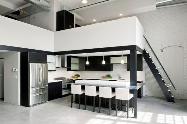 Modern residencedesign office featuring a minimalist