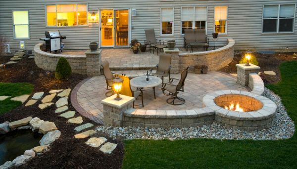 paver patio with fire pit design ideas Five Makeover Ideas For Your Patio Area