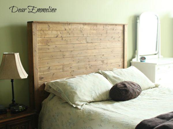 13 diy headboards made from repurposed wood