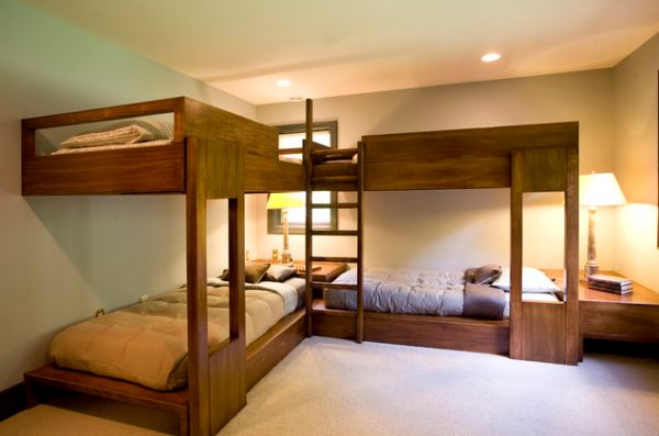 Bunk Beds For Four  Wonderful SpaceSaving Additions To The Kids Rooms