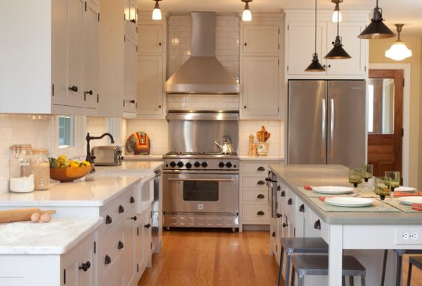 Add Character To Your Kitchen With Industrial Pendant Lights