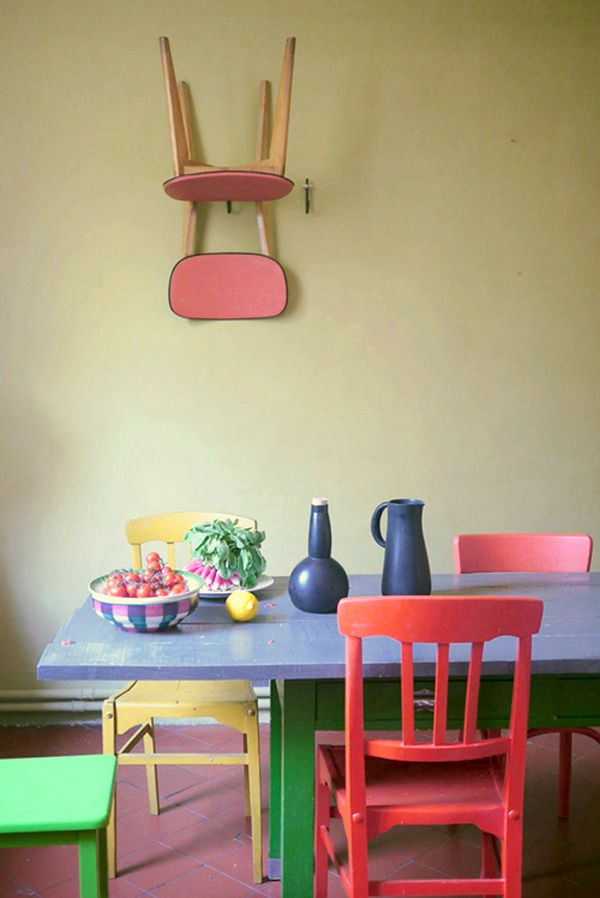 Chairs Colored Accent Bright