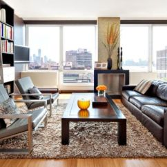 Living Room Decorating Ideas Leather Couches Indian Interior Design Give Your An Elegant Look With A Brown Sofa View In Gallery Here The