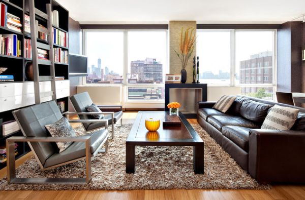 living room decorating ideas with leather furniture dining and combo give your an elegant look a brown sofa view in gallery here the