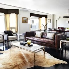 Leather Furniture Ideas For Living Rooms Small Indian Room Interior Design Give Your An Elegant Look With A Brown Sofa View In Gallery This