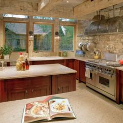 Kitchen Stone Items List Add Some Rustic Charm To Your With Walls View In Gallery