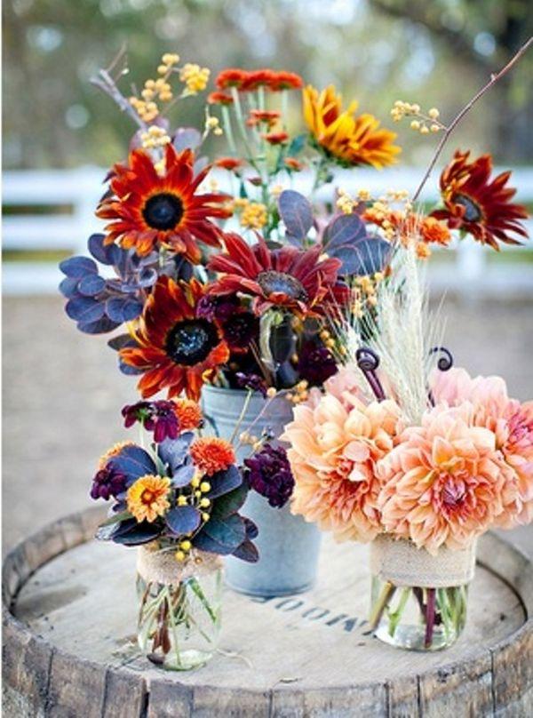 Fall Autumn Wedding Centerpieces