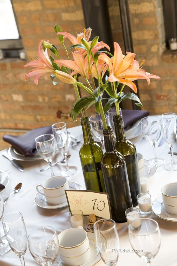 2 How To Use Your Old Wine Bottles For Wedding Decoration 9