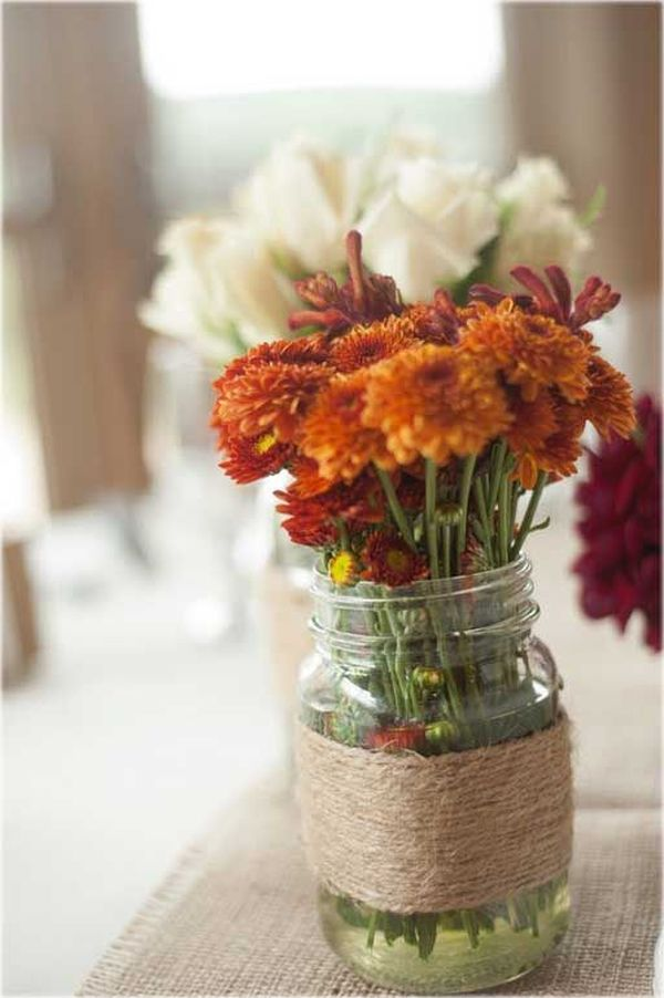 Fall Wedding Mason Jar Centerpieces Wedding Studio Us Wedding