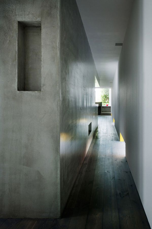 Narrow UltraModern Concrete Home Measuring 13 ft Wide