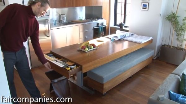 folding kitchen table cabinet top decor compact apartment with walls and tons of hidden ...