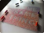 thread and nails 16 string art