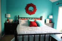 Turquoise Walls Bedroom