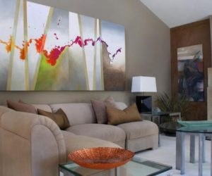 paintings for living room wall ideas with mounted tv how to add the wow factor through modern art use abstract in your home without making it look out of place