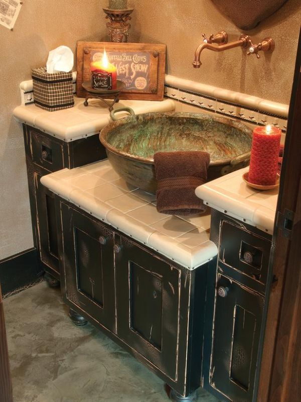 Old WorldInfluenced Bathroom Vanities