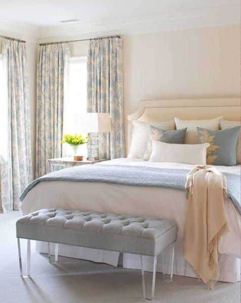 blue interior bedroom designs Cream and Blue-Hued Rooms: Ideas and Inspiration