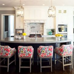 Kitchen Bar Chairs Remoldeling 60 Great Stool Ideas How To Pick The Perfect Design View In Gallery Bold Floral Print On Stools