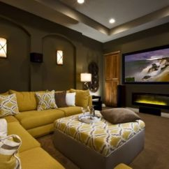 Yellow And Brown Living Room Decorating Ideas Wooden Chair Set Designs For Mustard Chocolate Covered Rooms Inspiration A Traditional
