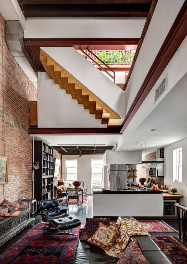 Dilapidated Building Converted Into A Beautiful Home Featuring Exposed Brick Walls