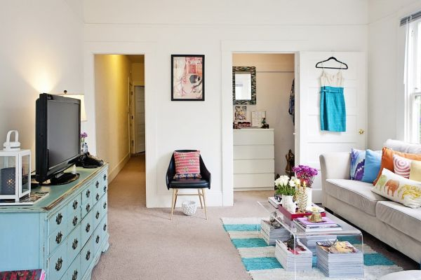 Small San Francisco Studio With Quirky Interior Design Details