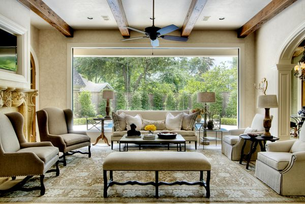 living room big window color schemes tan couch large windows and how to decorate around them view in gallery
