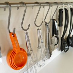 Kitchen Utensil Rack Chip Cabinets Essential Space Saving Tips For The