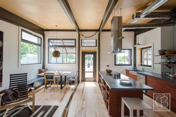 industrial kitchen island aid superba the insite home – a tiny solar-powered house in vermont ...