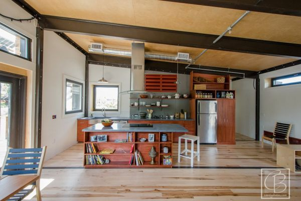 industrial kitchen island oxo supplies the insite home – a tiny solar-powered house in vermont ...