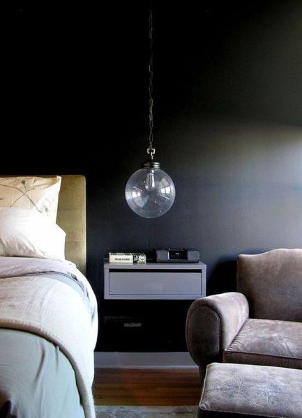 dark bedroom wall idea Dark & Moody Walls for a Cozy Bedroom