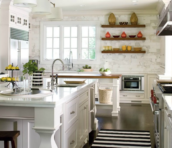 wood shelves kitchen sink without cabinet reclaimed for eco stylish interiors don t waste valuable counter space decorative items that s what are