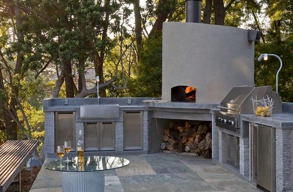 outdoor kitchen oven three hole faucet designs featuring pizza ovens fireplaces and other view in gallery