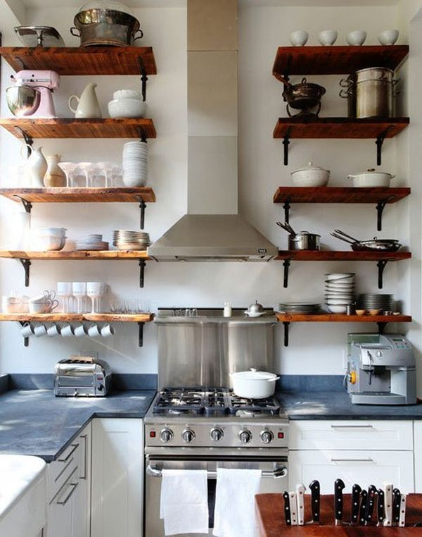 wood shelves kitchen home decor reclaimed for eco stylish interiors