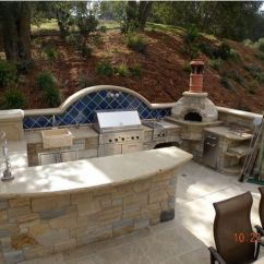 Backyard Kitchen Designs Small Design Photos Outdoor Featuring Pizza Ovens Fireplaces And Other View In Gallery