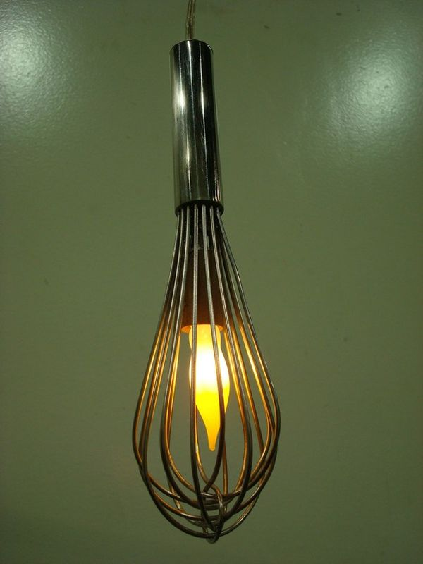 hanging kitchen light fixtures bench seating how to transform simple utensils into