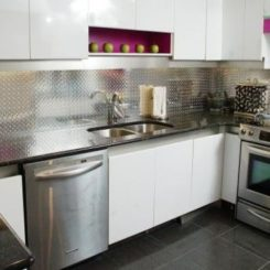 modern kitchen backsplash remodeling philadelphia new ideas feature storage and dramatic materials make a statement with metallic