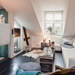 murphy bed in small living room bright lighting ideas 10 reasons why you should live an attic apartment