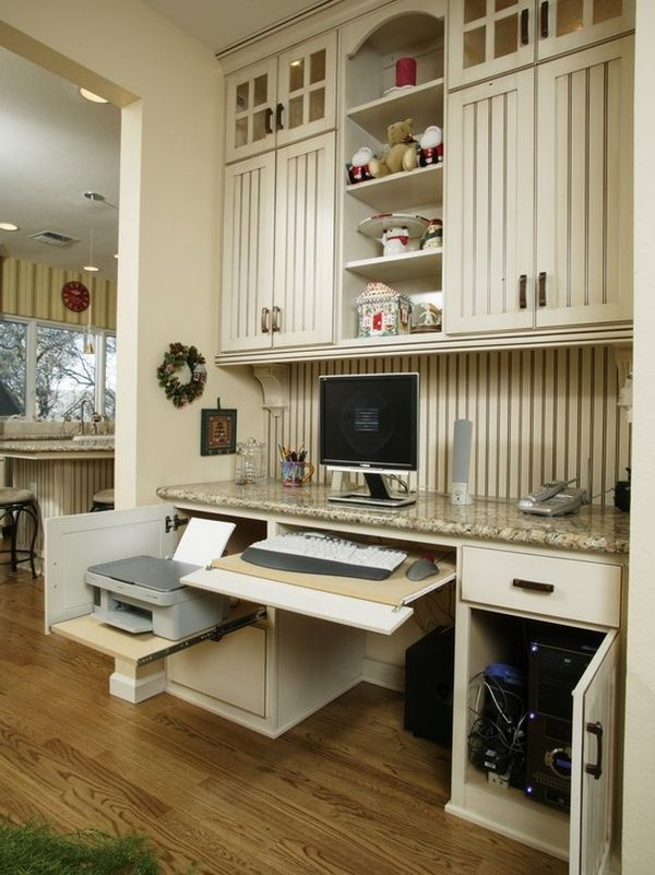 kitchen desk corner table with storage bench 20 clever ideas to design a functional office in your