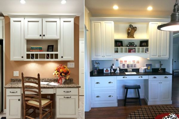 kitchen desk black cabinet pulls 20 clever ideas to design a functional office in your view gallery