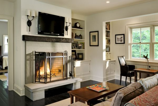 design living room with fireplace and tv red cream shabby chic ideas the pros cons of having a over